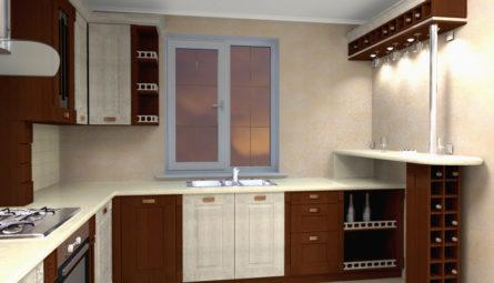 Матовый натяжной потолок на кухню 8,75 кв.м