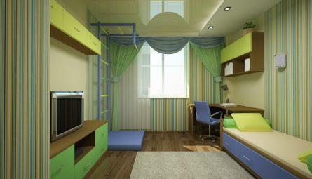 Натяжной потолок в детскую 7,1 кв.м