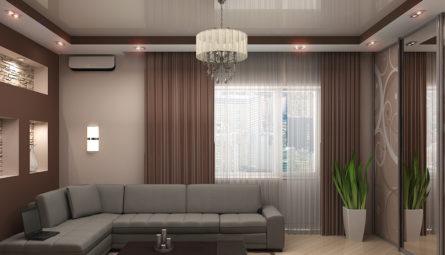 Натяжной потолок в гостиную 15,73 кв.м