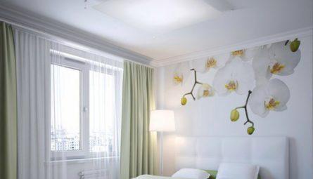 Натяжной потолок в спальню 16 кв.м
