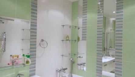 Натяжной потолок в ванной 2,37 кв.м