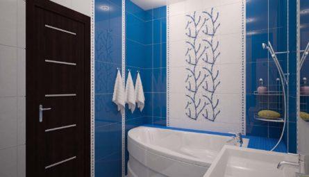 Натяжной потолок в ванной 2,49 кв.м