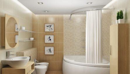 Натяжной потолок в ванной 2,98 кв.м