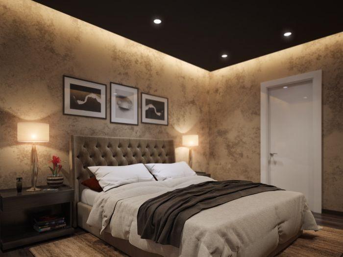 натяжные потолки в спальне в воронеже
