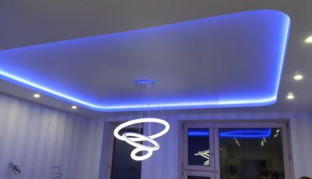 Натяжные потолки с подсветкой4