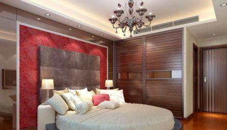 Сатиновый натяжной потолок в спальню 12 кв.м