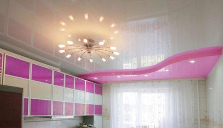 Выбор натяжного потолка на кухню
